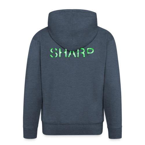Sharp Clan grey hoodie - Men's Premium Hooded Jacket