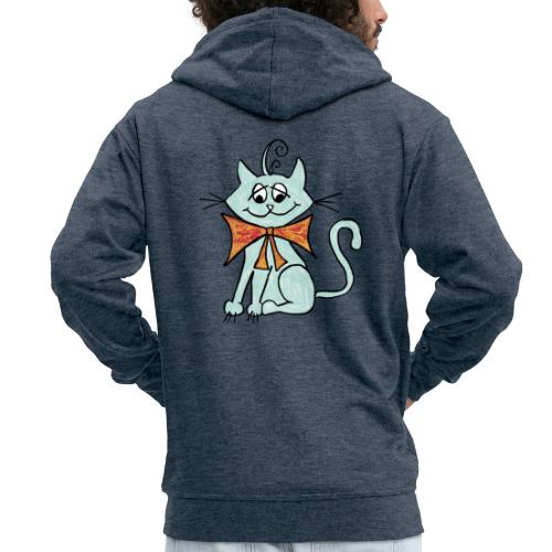 NIedliche blaue Katze - Männer Premium Kapuzenjacke