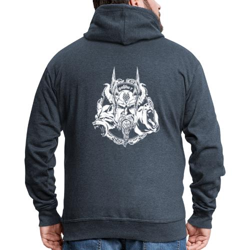 Wikinger, Viking Logo White, galdur - Männer Premium Kapuzenjacke