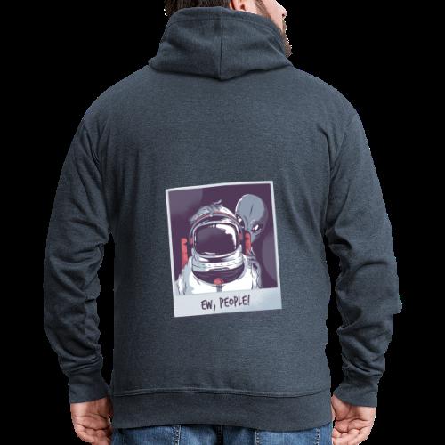 Aliens and astronaut - Men's Premium Hooded Jacket