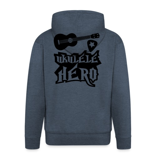 Ukelele Hero - Men's Premium Hooded Jacket