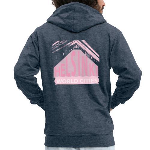 Helsinki light pink - Men's Premium Hooded Jacket