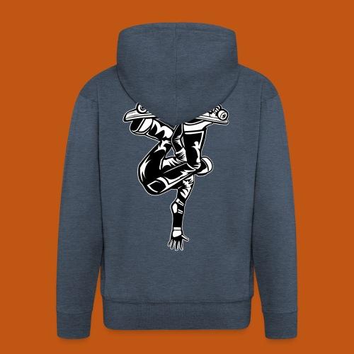 Skater / Skateboarder 03_schwarz weiß - Männer Premium Kapuzenjacke