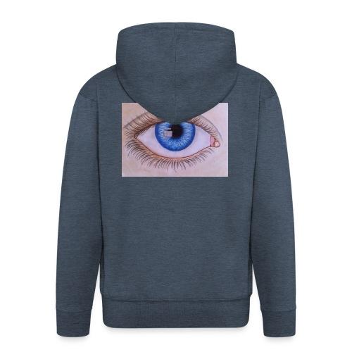 Blue eye - Männer Premium Kapuzenjacke