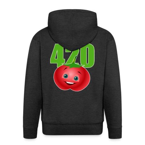 Tomate 420 - Männer Premium Kapuzenjacke