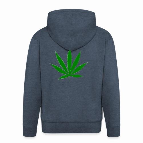 basice weed leaf - Men's Premium Hooded Jacket