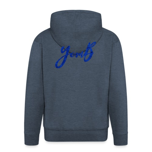 YomB Blue - Veste à capuche Premium Homme