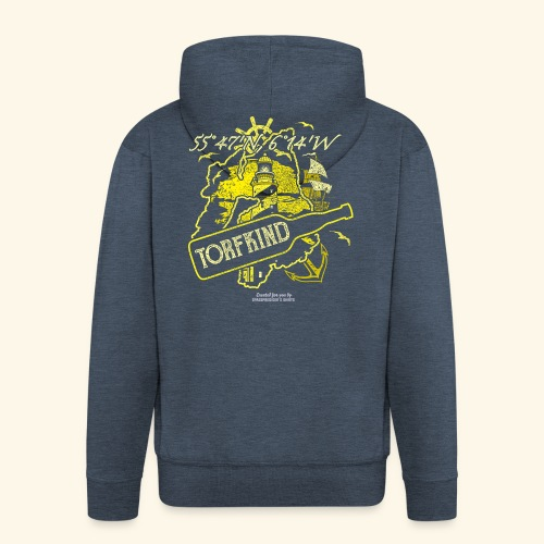 Whisky T Shirt Design Torfkind für Islay Fans - Männer Premium Kapuzenjacke