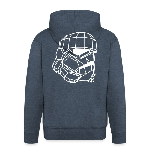 Male Stormtrooper Premium Geometrical sweater - Men's Premium Hooded Jacket