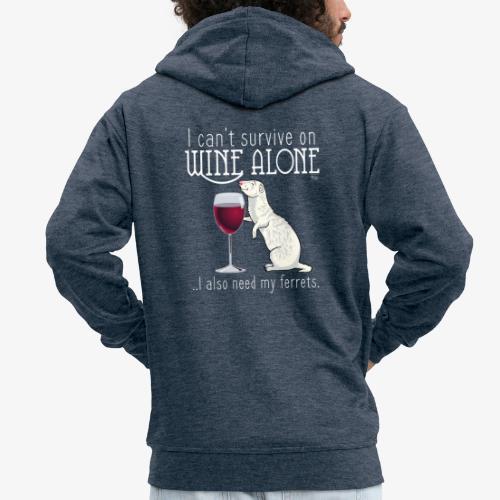 Wine Alone Ferrets - Miesten premium vetoketjullinen huppari