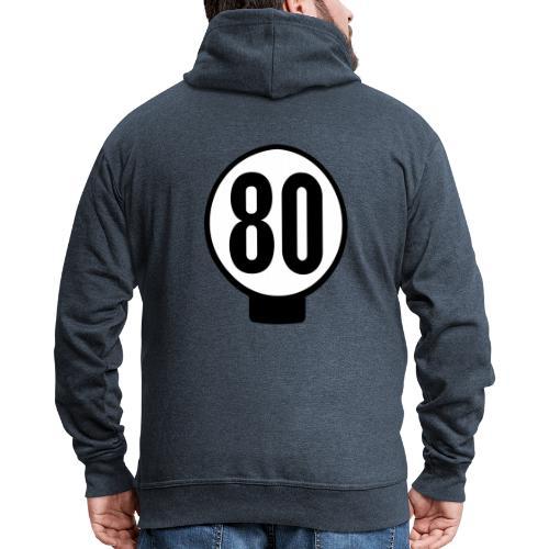 80 n lätkä - Miesten premium vetoketjullinen huppari