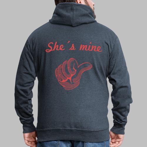 she´s mine Partnermotiv Frau - Männer Premium Kapuzenjacke