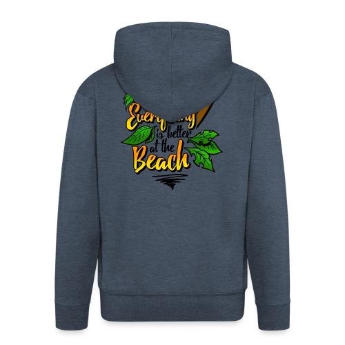 Beach-colour - Männer Premium Kapuzenjacke