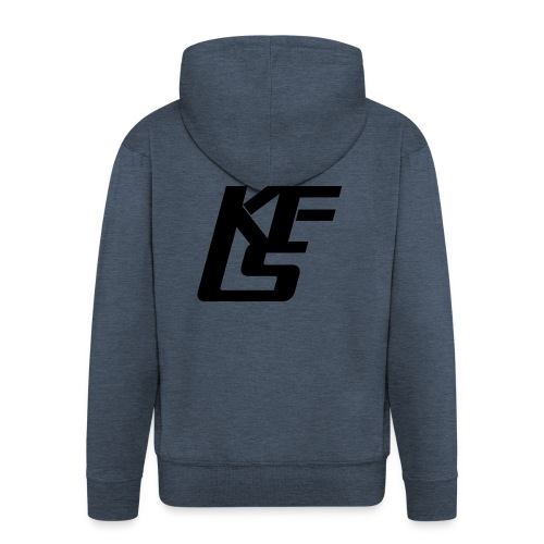 Logo KungFu LifeStyle - Felpa con zip Premium da uomo