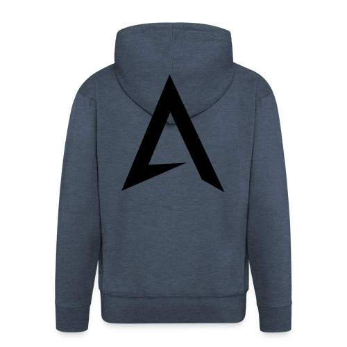 alpharock A logo - Men's Premium Hooded Jacket