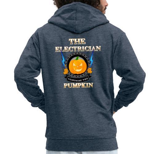 The Electrican lightning the Pumpkin - Männer Premium Kapuzenjacke