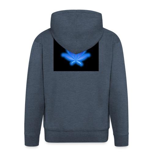 marijuana leaf blue 1 - Rozpinana bluza męska z kapturem Premium