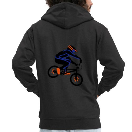 BMX Rider Dark - Mannenjack Premium met capuchon