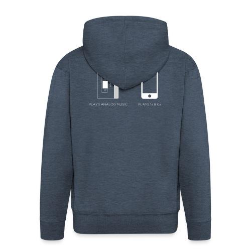 walkman analog - phone 1&0s - Men's Premium Hooded Jacket