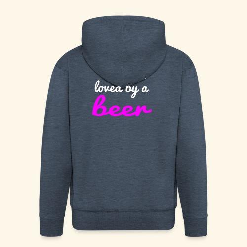 Birra Beer - Felpa con zip Premium da uomo