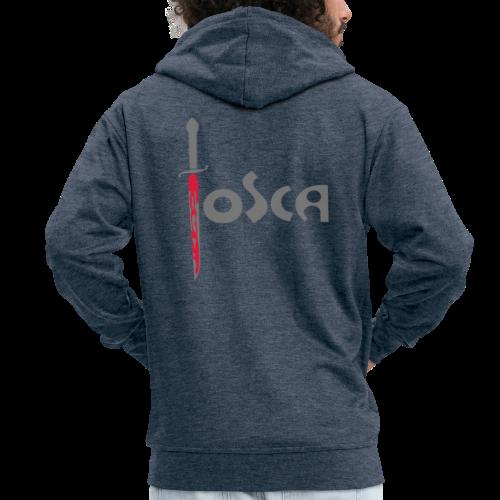 Tosca: «Questo è il bacio di Tosca!» - Felpa con zip Premium da uomo