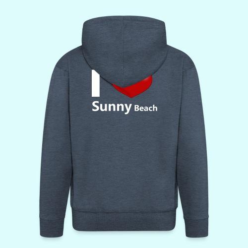 I love Sunny Beach 2 (white print) - Mannenjack Premium met capuchon