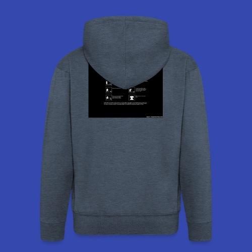 Warning - Men's Premium Hooded Jacket