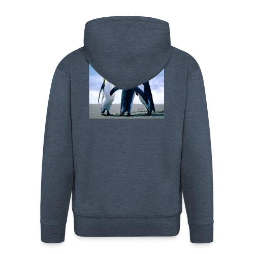 Penguins - Männer Premium Kapuzenjacke