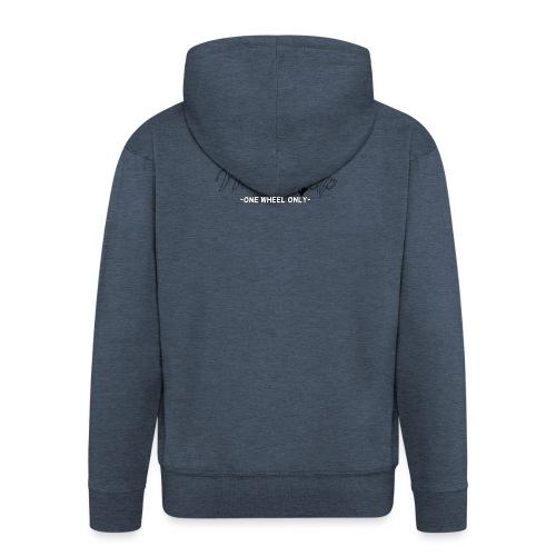 wheels up black figure - Men's Premium Hooded Jacket