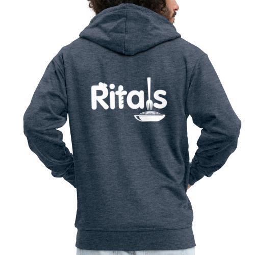 Logo Ritals bianco negativo - Felpa con zip Premium da uomo