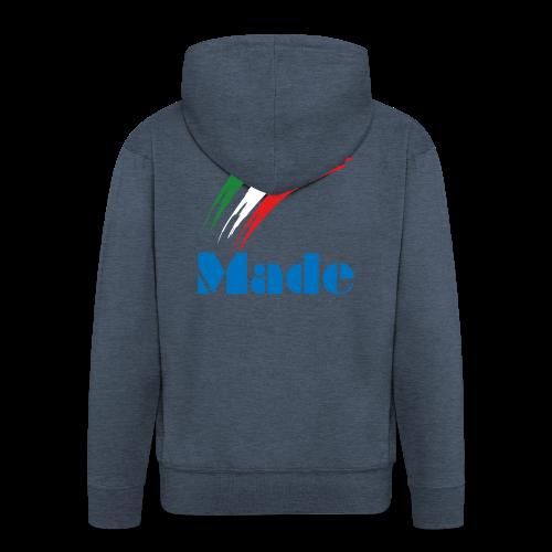 Italy Made - Felpa con zip Premium da uomo
