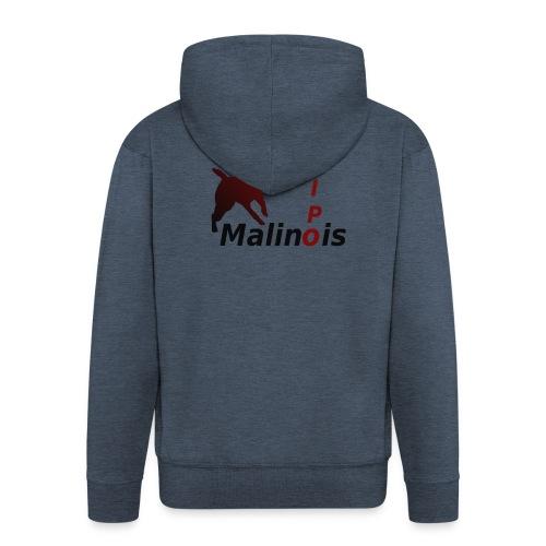 IPO Malinois Männer T-Shirt V Ausschnitt - Männer Premium Kapuzenjacke