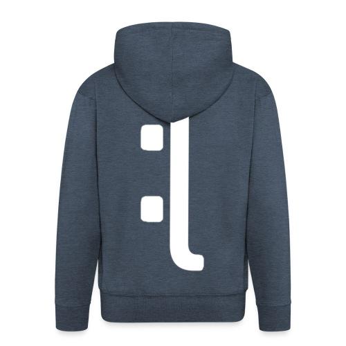 A 'Sad Face' Design :( , Designed by Browney. - Men's Premium Hooded Jacket