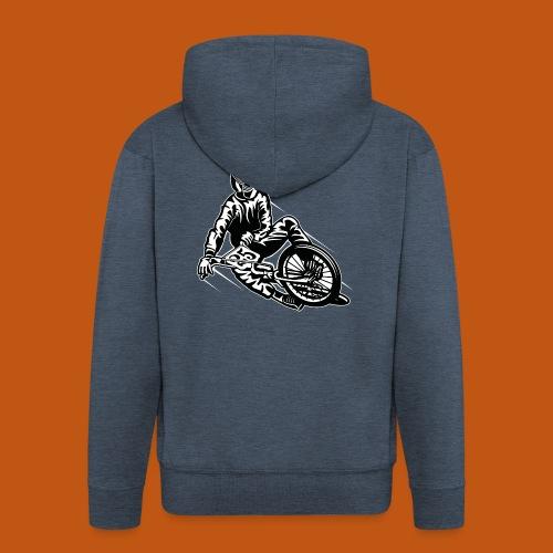BMX / Mountain Biker 03_schwarz weiß - Männer Premium Kapuzenjacke