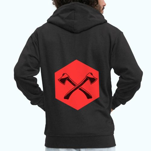 Hipster ax - Men's Premium Hooded Jacket