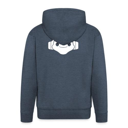 Logo Lucio White - Men's Premium Hooded Jacket