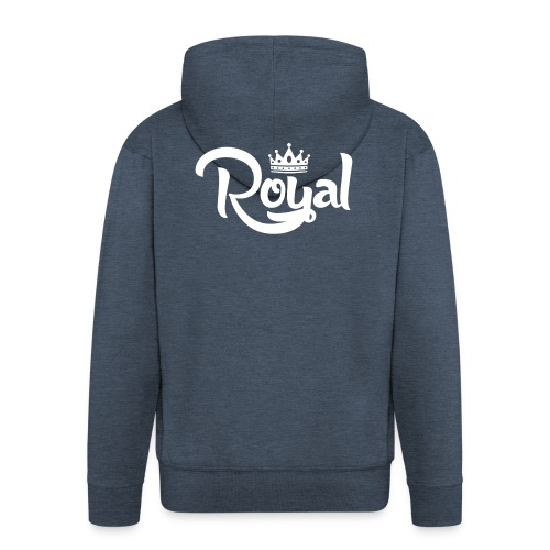 Royal Logo White Edition - Men's Premium Hooded Jacket