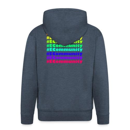 Ecommunity Rainbow - Männer Premium Kapuzenjacke