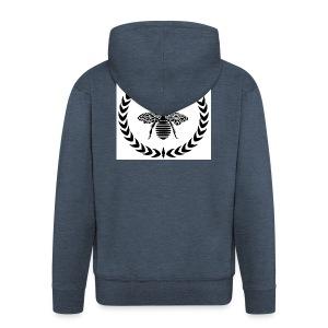 Be Rich T-shirt - Mannenjack Premium met capuchon