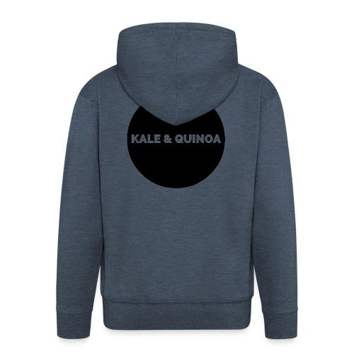 KALE & QUINOA - Rozpinana bluza męska z kapturem Premium