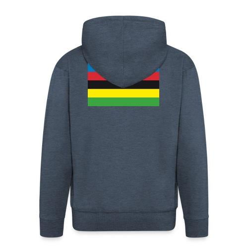 Cycling_World_Champion_Rainbow_Stripes-png - Mannenjack Premium met capuchon