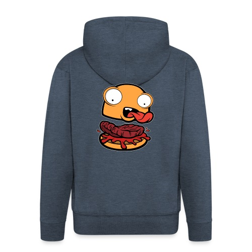 Crazy Burger - Chaqueta con capucha premium hombre