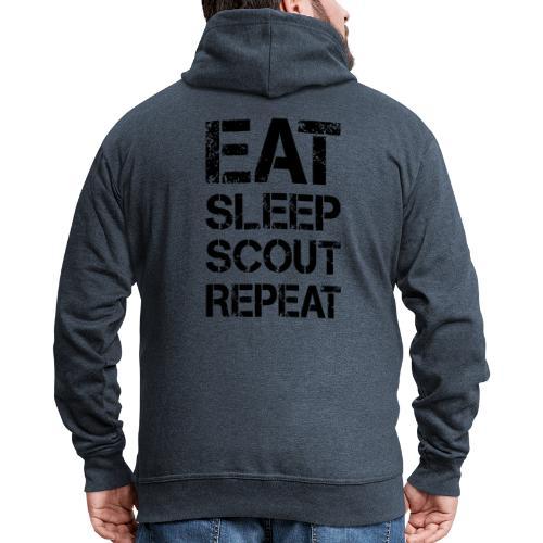 EAT SLEEP SCOUT REPEAT Kreide - Farbe frei wählbar - Männer Premium Kapuzenjacke