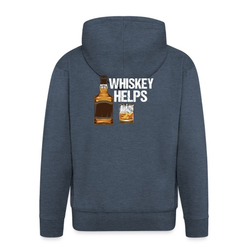 Whiskey helps - Alkohol - Männer Premium Kapuzenjacke
