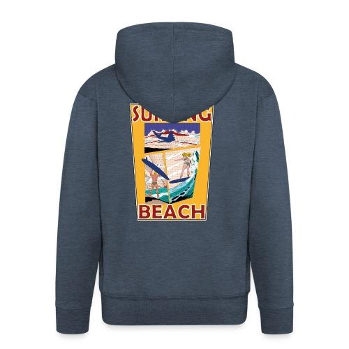 Surfing beach comic Urlaub t-shirt - Männer Premium Kapuzenjacke