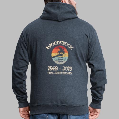 woodstock 50th anniversary love peace and music - Männer Premium Kapuzenjacke
