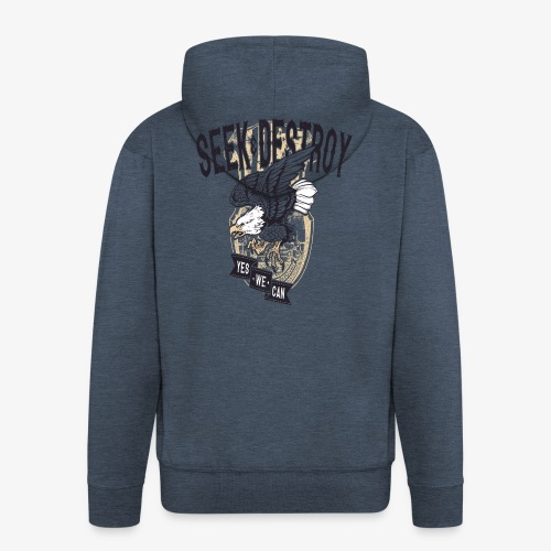 Seek Destroy - Shirts - Felpa con zip Premium da uomo
