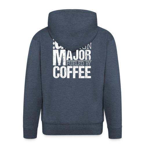 Graphic Design Major Fueled By Coffee - Männer Premium Kapuzenjacke