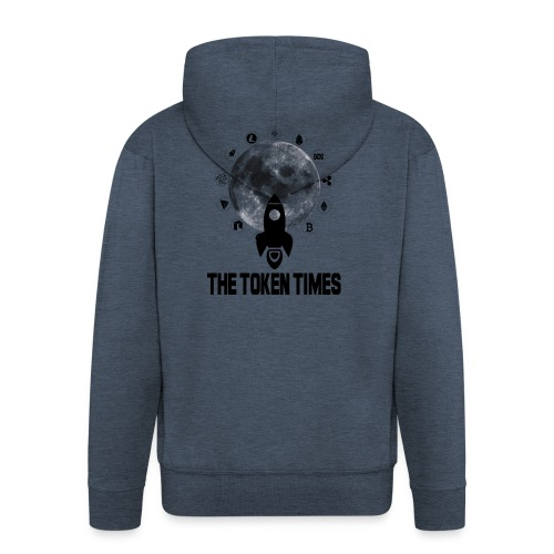 Token Times Logo 1 - Men's Premium Hooded Jacket