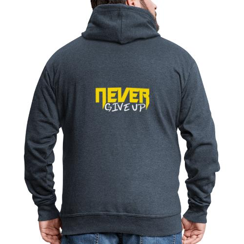 Never give up - Männer Premium Kapuzenjacke